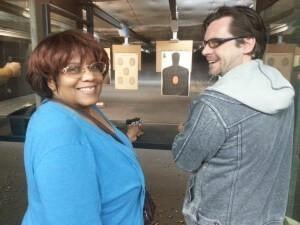 Beginners gun class at the range